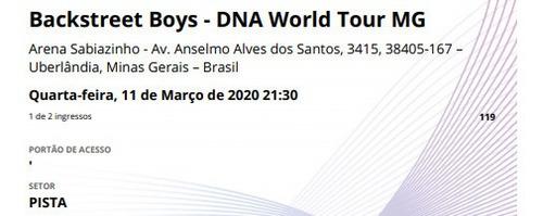 ingresso show backstreet boys dna tour