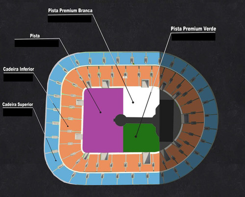 ingresso show coldplay sp 08/11/17 pista prem. verde inteira