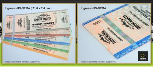 ingressos de segurança para festas e eventos (100 unidades)