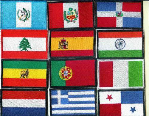inicia haz negocio 50 banderas bordadasen iman o para coser
