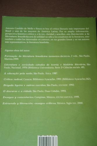 iniciacion a la literatura brasileña , antonio candido
