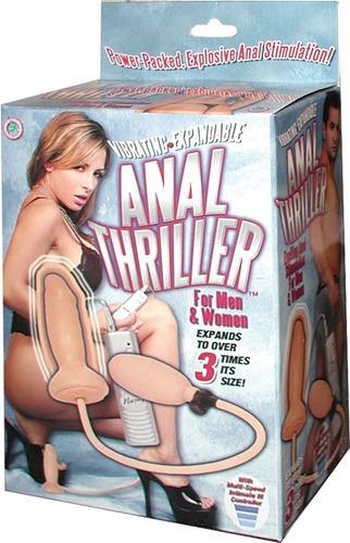 iniciador anal inflable, con vibracion, flexible y suave