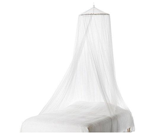 inicio cama blanca mosquitero malla dosel de cama redonda c