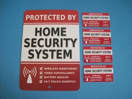 inicio de alarma de seguridad muestra del sistema del patio