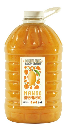 inigualable salsa mango habanero 1 garrafa 3.78 l picante