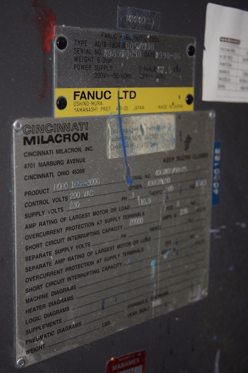 injection molding machine robo 165r 300g cincinnati milacron u s cincinnati milacron cargando zoom