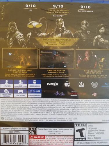 injustice 2 legendary edition ps4 sellado delivery stock ya