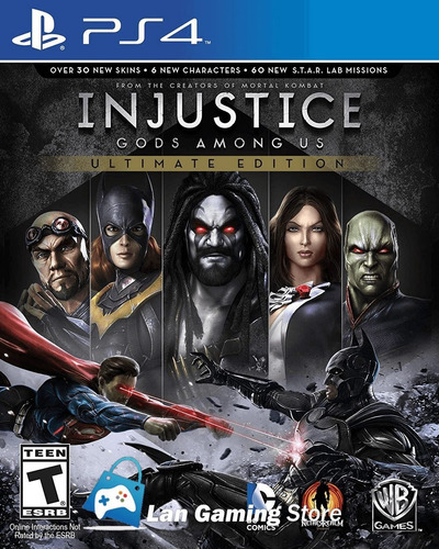 injustice gods among us ultimate edition ps4 - poster gratis