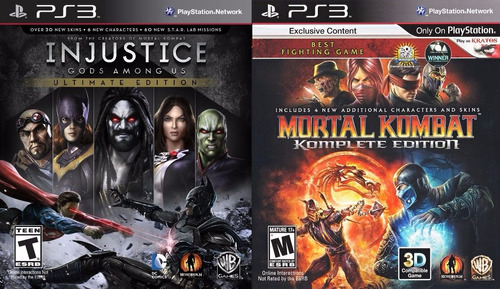 injustice + mortal kombat ps3 | digital español + todos dlcs