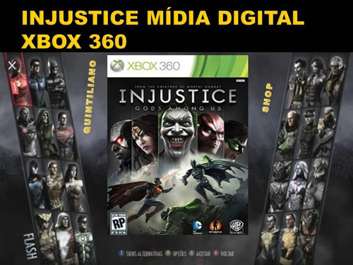 injustice xbox 360 midia digital