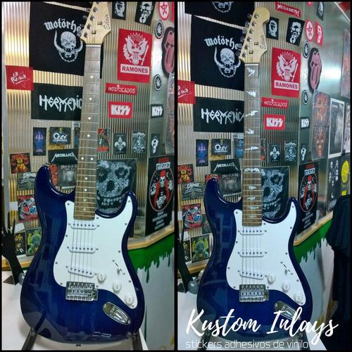 inlay adhesivo a elección ideal restauración guitarra-bajo