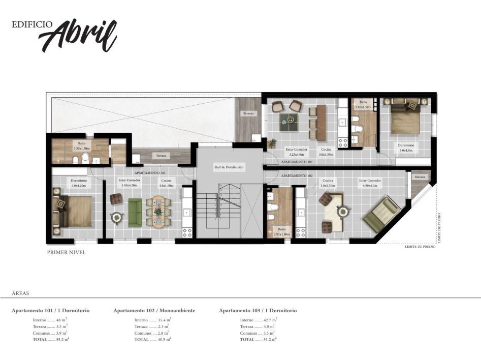 inmobiliaria verde vende monoambientes, 1 y 2 dormitorios
