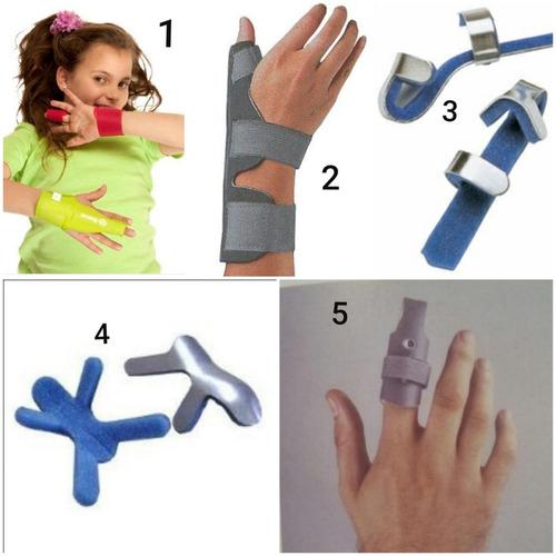 inmovilizador de dedo o ferula de aluminio o plasticas