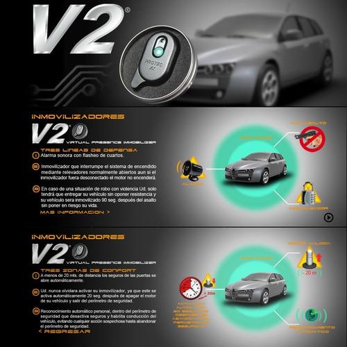 inmovilizador presencia v2 original protec alarma antiasalto