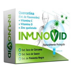 Inmunovid Vitamina C D Quercetina Zinc Sistema Inmune 30 Cap