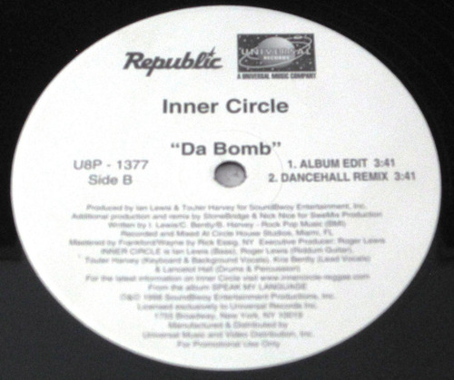 inner circle - da bomb single promo importado de usa lp