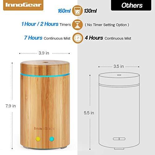 innogear modernizado real de bambu, aceite esencial, difusor