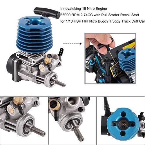 innovarking motor de motor de coche rc 18 nitro de 274 cc co