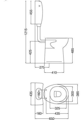 inodoro alto para baño discapacitados espacio ferrum ietmj