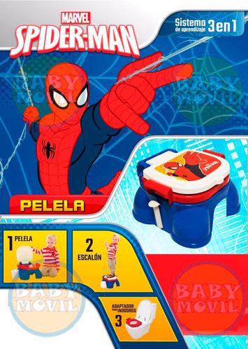 inodoro pelela portatil spiderman 3 en 1 babymovil