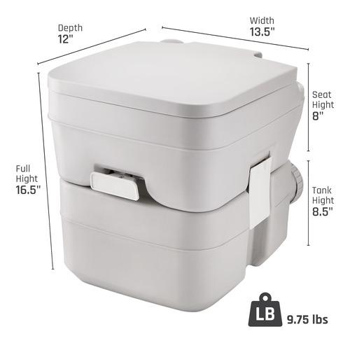 inodoro portátil zimmer comfort con capacidad para 5 galo
