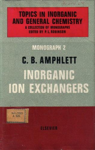 inorganic ion exchangers / c. b. amphlett