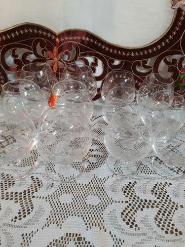 inospeli 12 copas cristal cognac 6 medianas 6 chicas. cj h