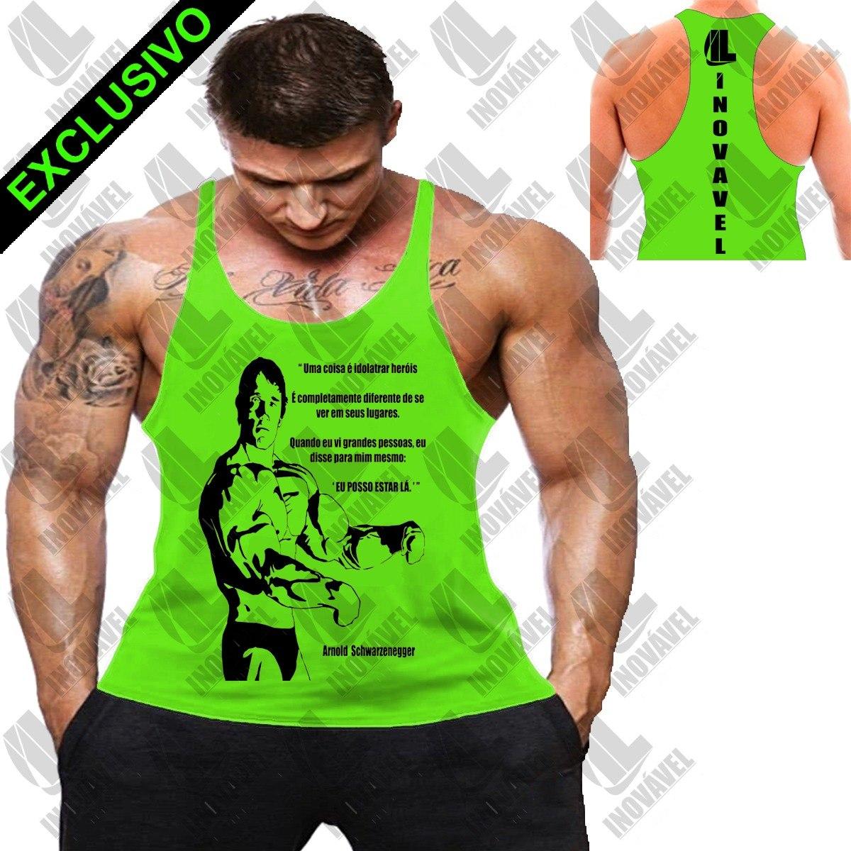 31e2402ce7 5c1c1b42b649b8  Inovavel - Camiseta Regata Cav. Arnold Citação Treino  Casual - R 39