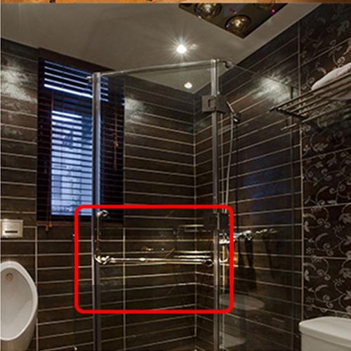 inoxidable cuarto de baño ducha puerta accesorio artesanía
