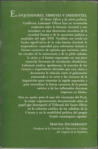 inquisidores, virreyes y disidentes / g. lohmann villena