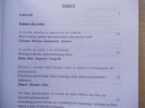 inscrever interpretar e escrever - psicanalítica  nº 11