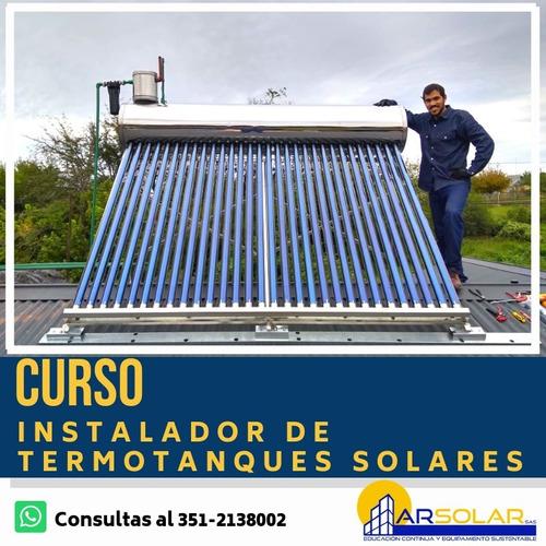 inscripción curso termotanques solares - energía solar