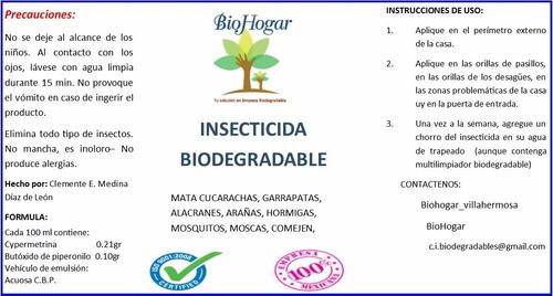 insecticida concentrado biodegradable
