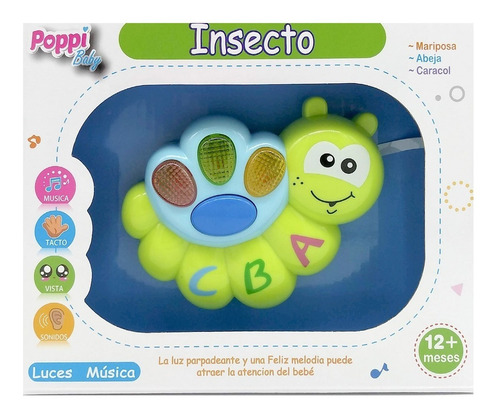 insecto primera infancia musical con luces y sonidos poppy