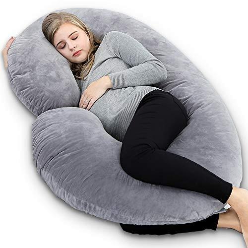 insen almohadilla del cuerpo del embarazo con la cubierta d