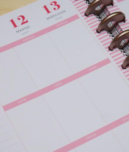 insert semanal happy planner classic  pink
