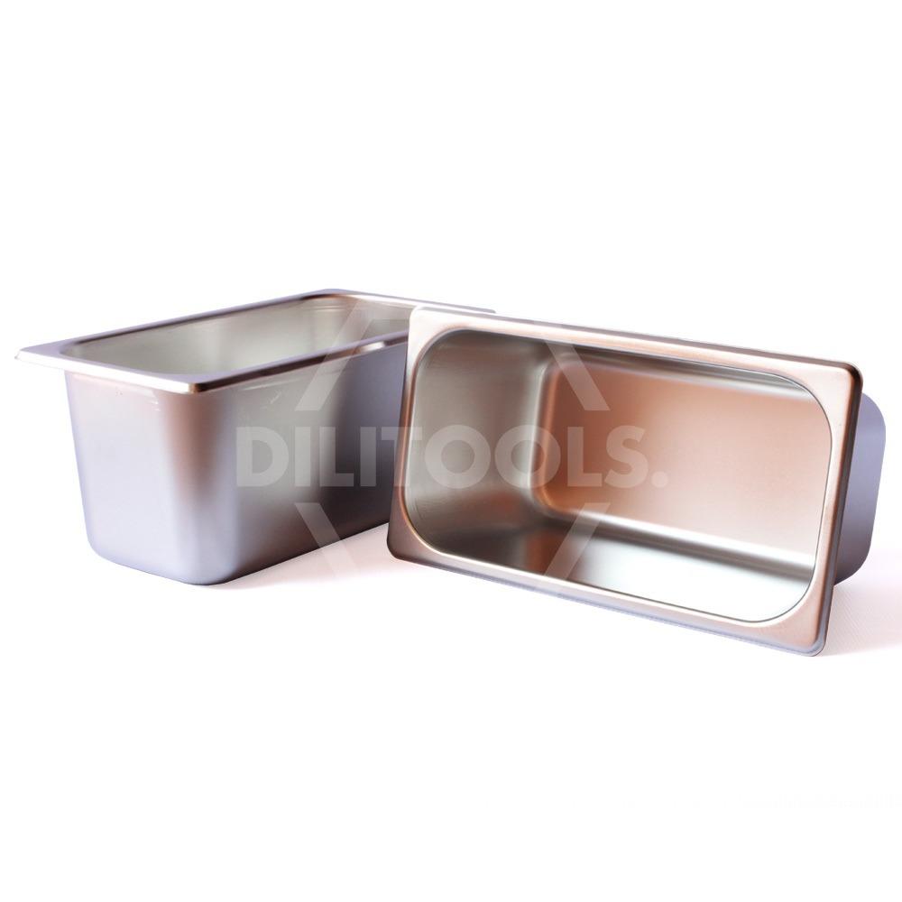 Inserto contenedor acero inoxidable tercio 6 pulgadas for Pilas de acero inoxidable