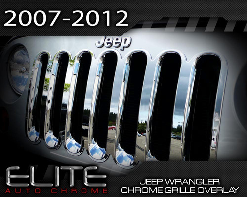 inserto cromado wrangler jeep  de una pieza de lujo sp0