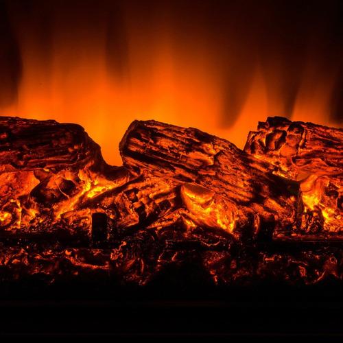 inserto de chimenea eléctrico calentador troncos 28 pulgadas