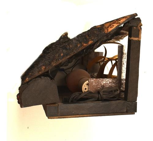 inserto leño chimenea simulador flama