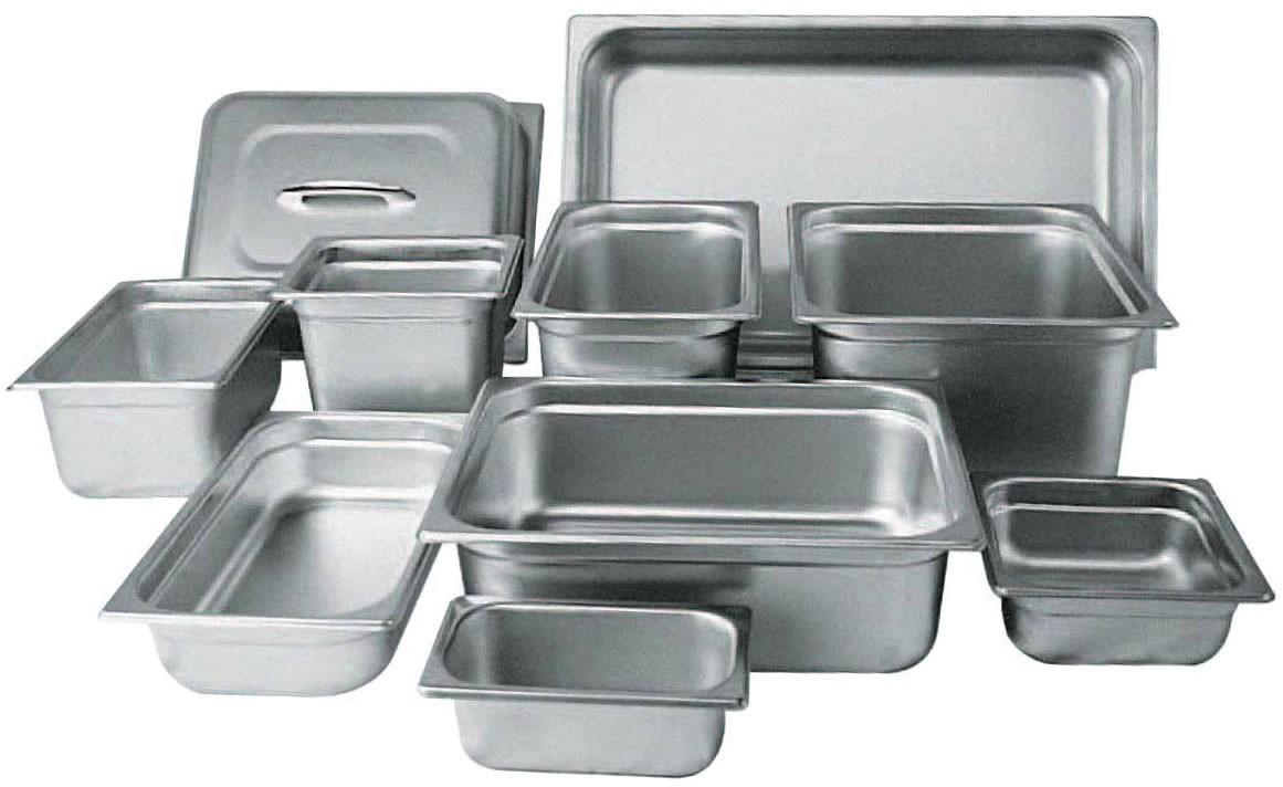 Inserto medio x 6pg de acero inoxidable en Articulos de cocina de acero inoxidable