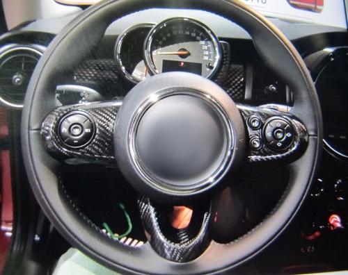 inserto mini cooper f56 en fibra de carbon para volante gcp