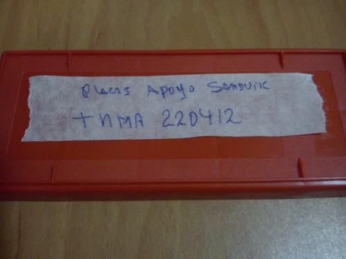 inserto o placa de apoyo sandvick tnma 220412