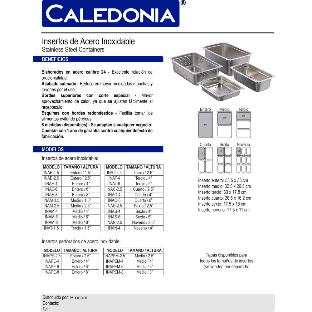c572d4d0f792 Insertos Caledonia De Acero Inoxidable -   93.00 en Mercado Libre