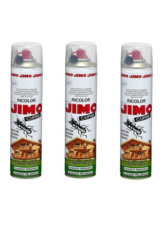 inseticida aerossol jimo cupim  incolor 400ml - kit c/3 un