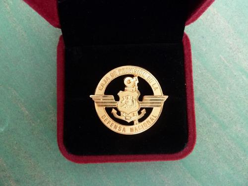 insignia caja previsión defensa nacional con estuche - vp