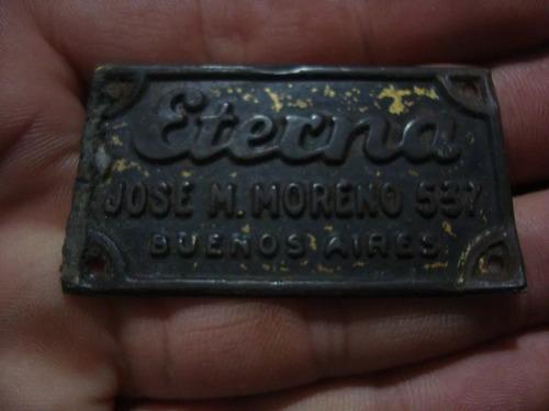 insignia de eterna 3,3 x 5,5 cm. propaganda publicidad