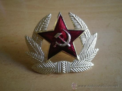 insignia de gorro ruso del ejercito rojo.excelente estado.
