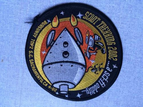insignia do scoot trehhidg 2002 sacramento, ca, envio grátis