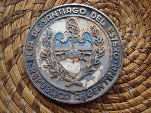 insignia escudo de santiago del estero 6,5 cm diámetro
